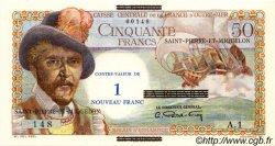 1 NF sur 50 Francs SAINT PIERRE ET MIQUELON  1960 P.30a pr.NEUF