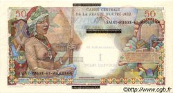 1 NF sur 50 Francs SAINT PIERRE ET MIQUELON  1960 P.30as pr.SPL