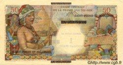 1 NF sur 50 Francs SAINT PIERRE ET MIQUELON  1960 P.30b SUP