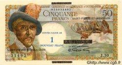 1 NF sur 50 Francs SAINT PIERRE ET MIQUELON  1960 P.30b pr.NEUF