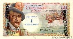 1 NF sur 50 Francs SAINT PIERRE ET MIQUELON  1960 P.31s pr.NEUF