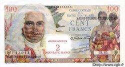 2 NF sur 100 Francs La Bourdonnais SAINT PIERRE ET MIQUELON  1960 P.32 pr.NEUF