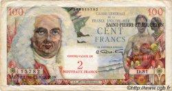 2 NF sur 100 Francs SAINT PIERRE ET MIQUELON  1960 P.32 TB+