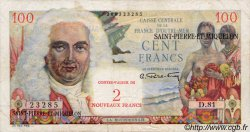 2 NF sur 100 Francs SAINT PIERRE ET MIQUELON  1960 P.32 TTB