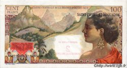2 NF sur 100 Francs SAINT PIERRE ET MIQUELON  1960 P.32 SPL