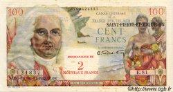 2 NF sur 100 Francs SAINT PIERRE ET MIQUELON  1960 P.32 SUP