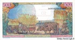 10 NF sur 500 Francs Pointe à Pitre SAINT PIERRE ET MIQUELON  1960 P.33 NEUF