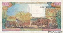 10 NF sur 500 Francs SAINT PIERRE ET MIQUELON  1960 P.33 TB+