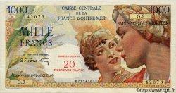 20 Nouveaux Francs sur 1000 Francs Union Française SAINT PIERRE ET MIQUELON  1960 P.34 TTB+