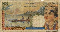 20 NF sur 1000 Francs Union Française SAINT PIERRE ET MIQUELON  1960 P.34 B
