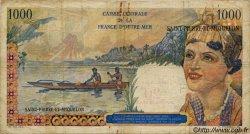 20 Nouveaux Francs sur 1000 Francs Union Française SAINT PIERRE ET MIQUELON  1960 P.34 B+