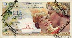 20 Nouveaux Francs sur 1000 Francs Union Française SAINT PIERRE ET MIQUELON  1960 P.34s pr.NEUF