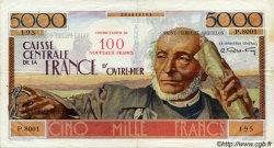100 Nouveaux Francs sur 5000 Francs Schoelcher SAINT PIERRE ET MIQUELON  1960 P.35 TTB