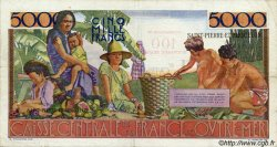 100 NF sur 5000 Francs Schoelcher SAINT PIERRE ET MIQUELON  1960 P.35 TTB