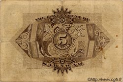 5 Dollars SARAWAK  1929 P.15 TB+