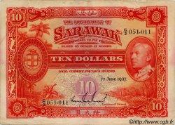 10 Dollars SARAWAK  1937 P.22 TTB