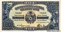 5 Pounds TONGA  1966 P.12d SPL