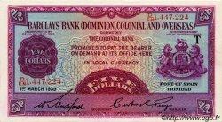 5 Dollars TRINIDAD et TOBAGO  1939 PS.102a SUP+