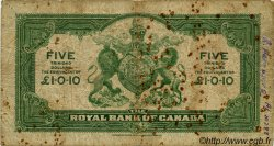 5 Dollars TRINIDAD et TOBAGO  1938 PS.161 B+