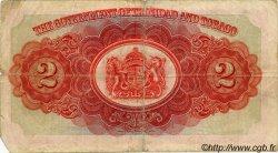 2 Dollars TRINIDAD et TOBAGO  1935 P.06a TB