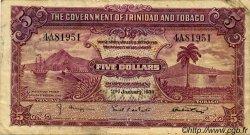 5 Dollars TRINIDAD et TOBAGO  1939 P.07b TB