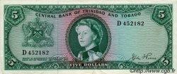 5 Dollars TRINIDAD et TOBAGO  1964 P.27a TTB+