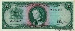 5 Dollars TRINIDAD et TOBAGO  1964 P.27c pr.SUP