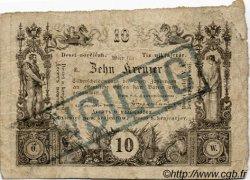 10 Kreuzer AUTRICHE  1860 P.A093a B+