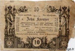 10 Kreuzer AUTRICHE  1860 P.A093a B