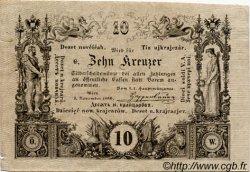 10 Kreuzer AUTRICHE  1860 P.A093b TTB