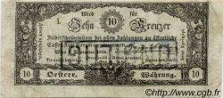 10 Kreuzer AUTRICHE  1860 P.A095 pr.TTB