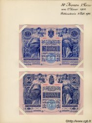 50 Kronen (la paire) AUTRICHE  1902 P.006s pr.NEUF