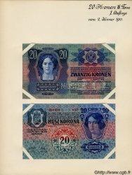 20 Kronen (la paire) AUTRICHE  1913 P.013s pr.NEUF