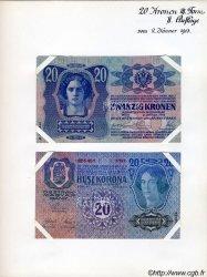 20 Kronen (la paire) AUTRICHE  1913 P.014s SPL