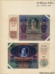 50 Kronen (la paire) AUTRICHE  1914 P.015s SPL