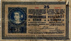 25 Kronen AUTRICHE  1918 P.023 pr.B