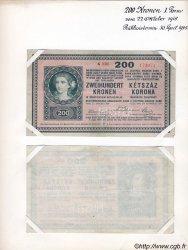 200 Kronen (la paire) AUTRICHE  1918 P.024s pr.SUP