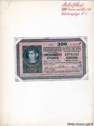 200 Kronen faux AUTRICHE  1918 P.024x TTB