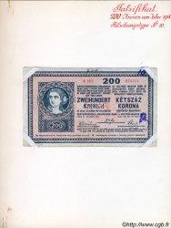 200 Kronen faux AUTRICHE  1918 P.024x TB+
