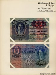 20 Kronen (la paire) AUTRICHE  1913 P.053s pr.NEUF
