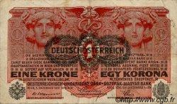 1 Krone AUTRICHE  1919 P.049 TTB
