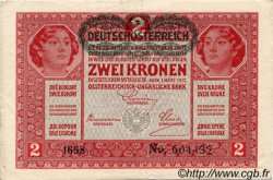 2 Kronen AUTRICHE  1919 P.050 TTB