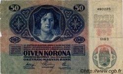 50 Kronen AUTRICHE  1919 P.054a B