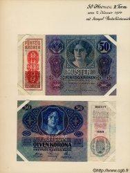 50 Kronen (la paire) AUTRICHE  1919 P.054as SPL+