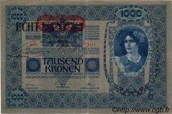 1000 Kronen surchargé ECHT AUTRICHE  1919 P.058 TB