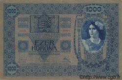 1000 Kronen surchargé ECHT AUTRICHE  1919 P.058 TTB