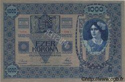 1000 Kronen surchargé ECHT AUTRICHE  1919 P.058s SUP+