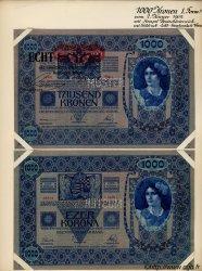 1000 Kronen surchargé ECHT AUTRICHE  1919 P.058s SPL