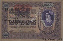 10000 Kronen surchargé ECHT AUTRICHE  1919 P.063s SPL+