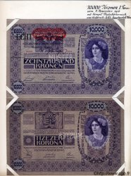 10000 Kronen surchargé ECHT AUTRICHE  1919 P.063s SPL